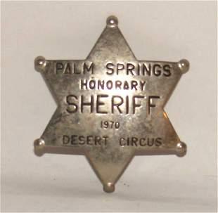 Palm Springs Police Honorary Badge