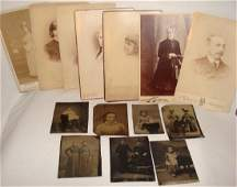 Group of Victorian Photos and Tintypes