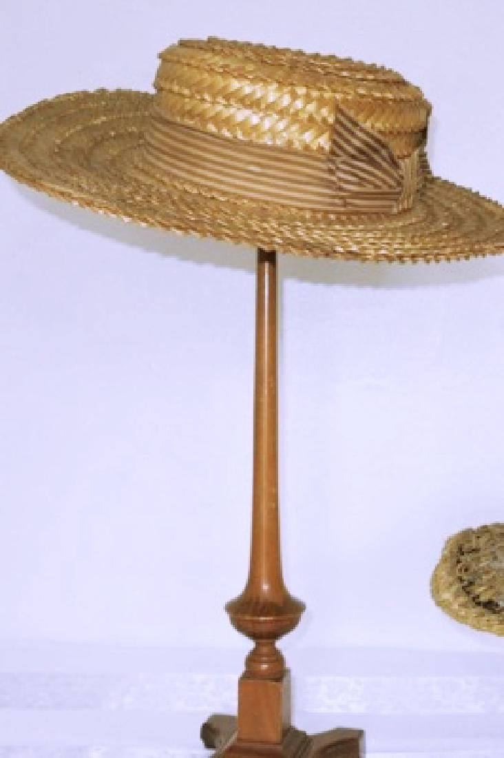 Antique Straw Boater's Hat, 1910
