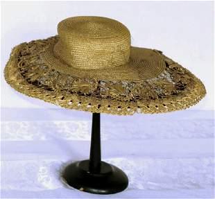 Early Straw Brim Hat