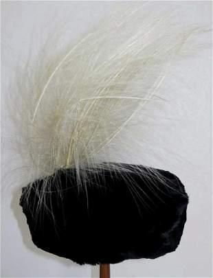 1900s Black Seal Skin Hat