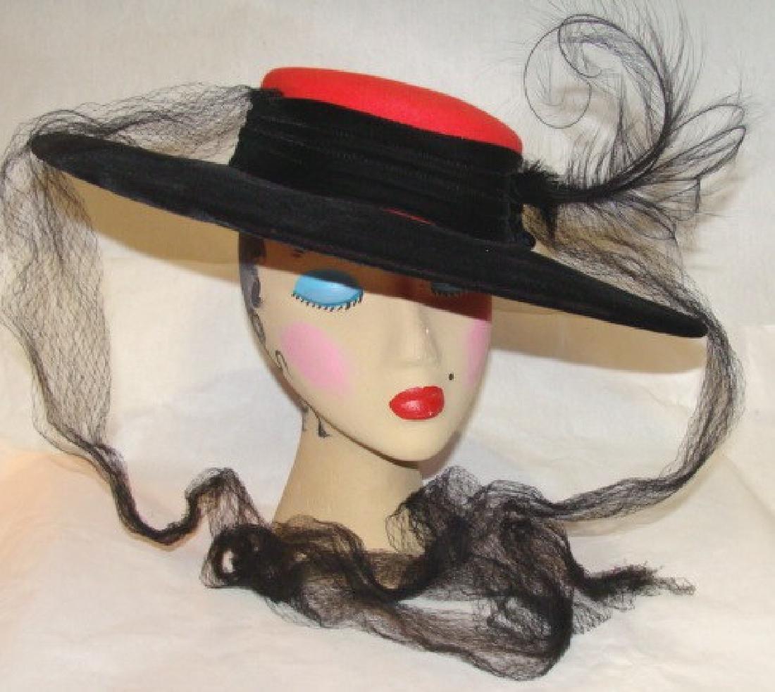Vintage Picture Hat, 1960's