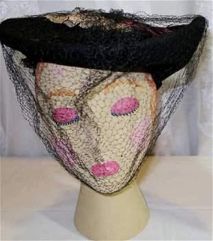 Vintage Flat Top Hat 1930
