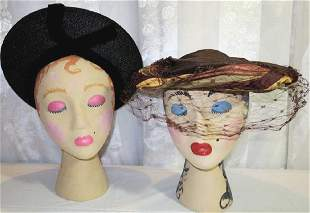 Lot of Two Vintage Hats 1930s