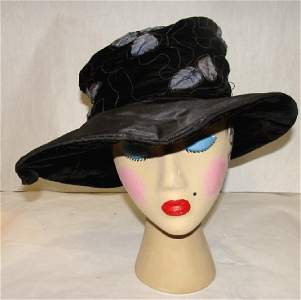 Vintage 1920's Picture Hat, Lord & Taylor