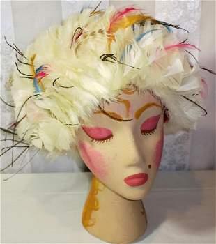Vintage Bubble Feather Hat 1960