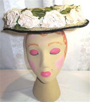 Antique Boaters Hat 1905