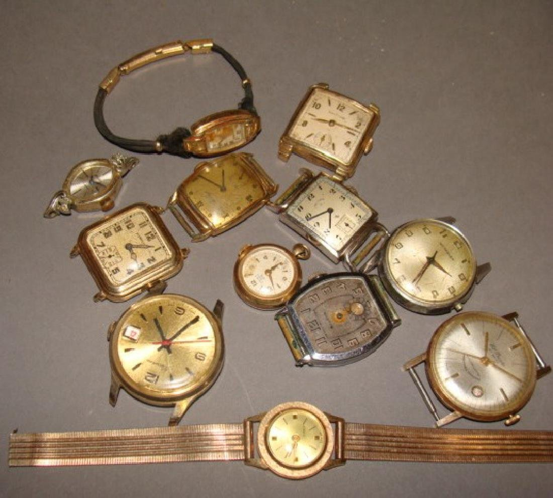 Lot of Gold Watches and Watch Faces - 2