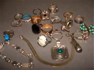 Assorted Lot of Sterling Jewelry