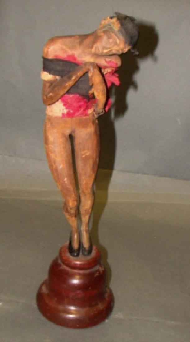 Vintage Wood Carved Josephine Baker Sculpture