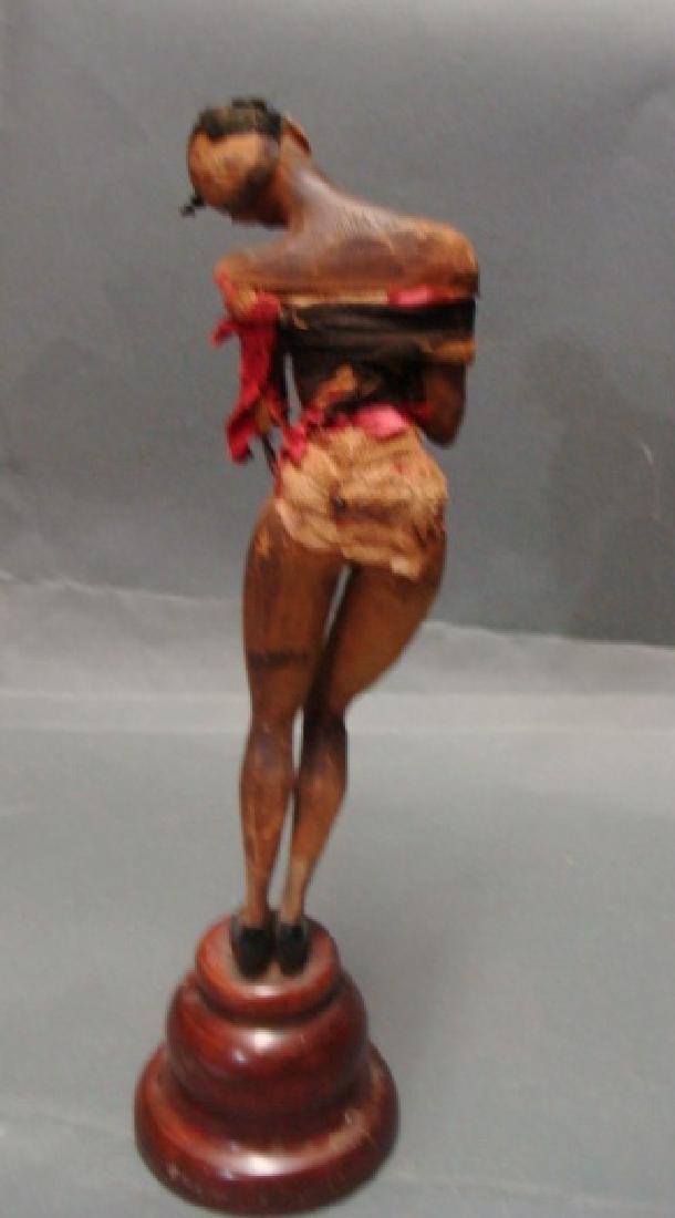 Vintage Wood Carved Josephine Baker Sculpture - 3
