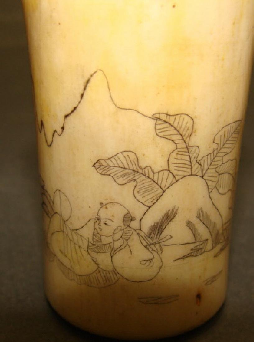 Lot of 3 Chinese Bone Carved Cups - 3