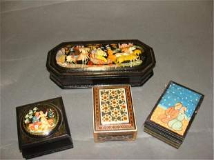 Lot of 4 Russian Persian Boxes