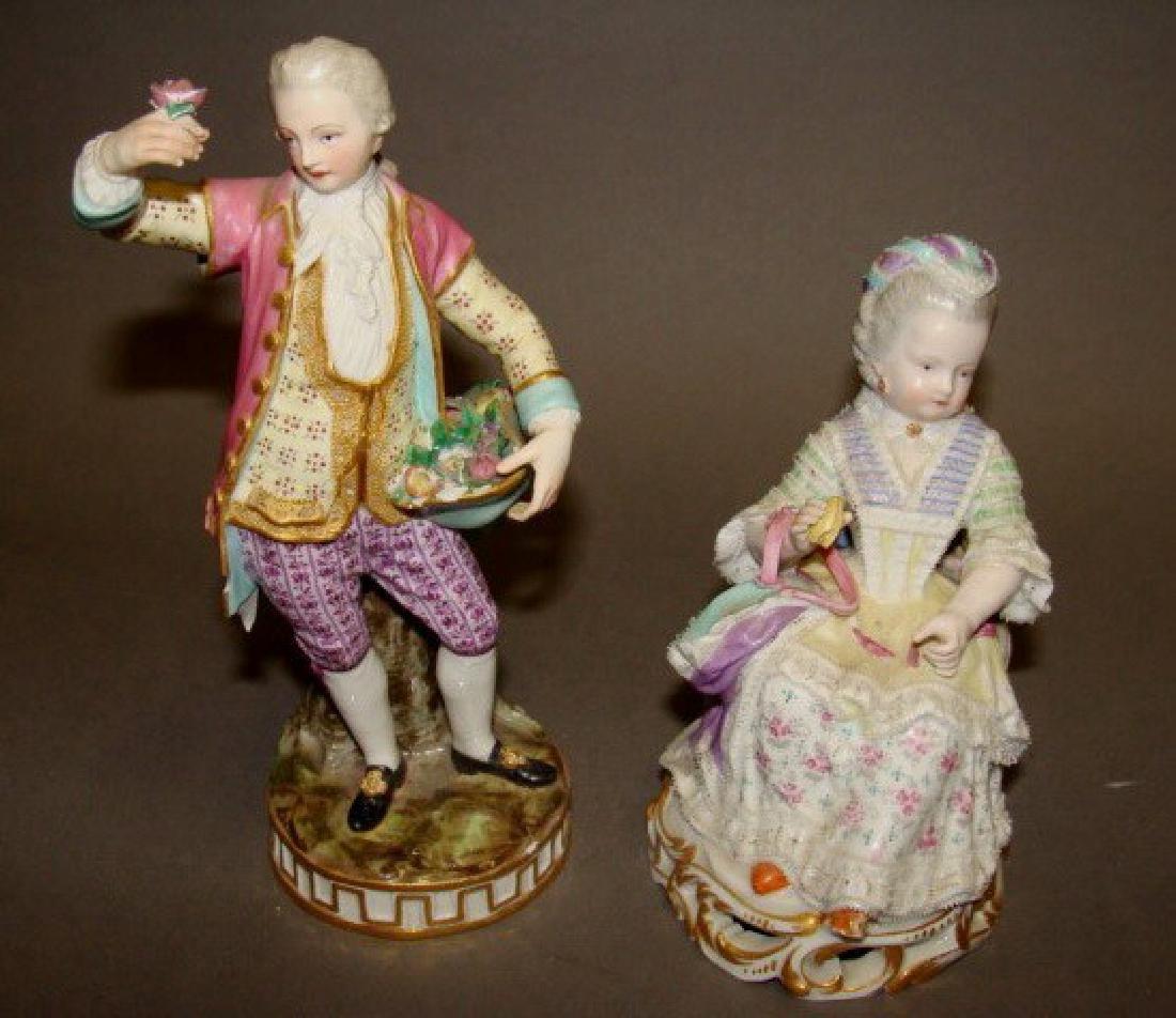 Lot of 2 Meissen Figurines