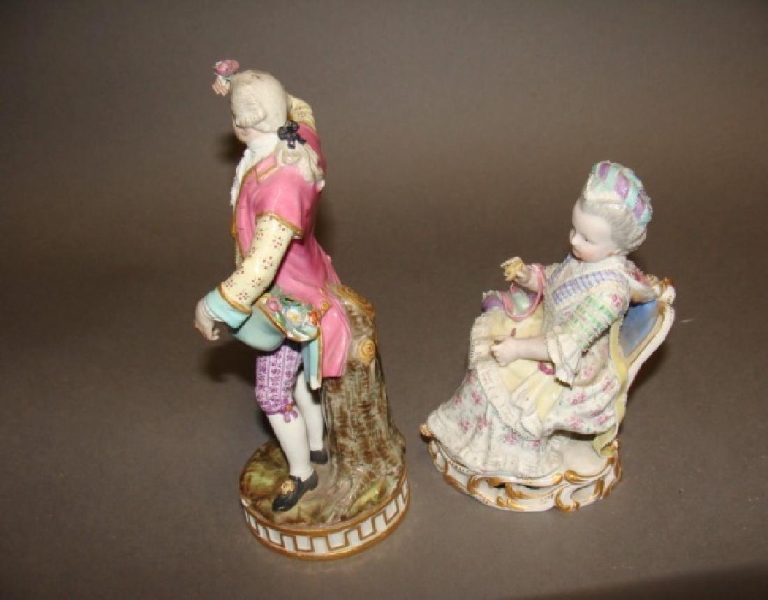 Lot of 2 Meissen Figurines - 4