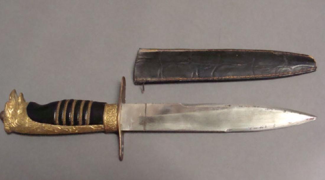 Ormolu Figural German Dagger
