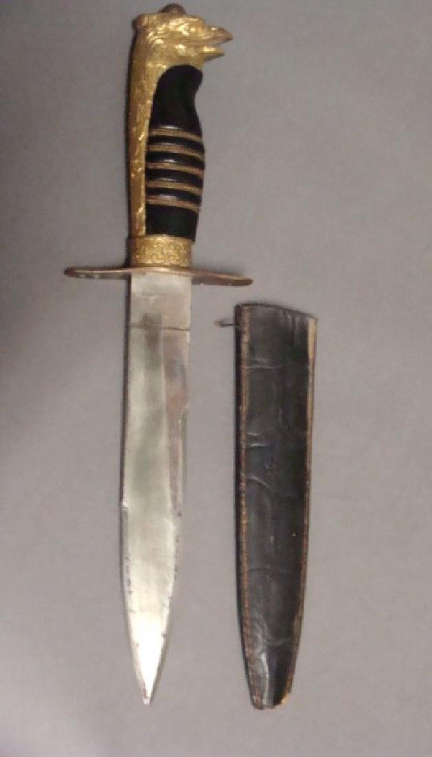 Ormolu Figural German Dagger - 2