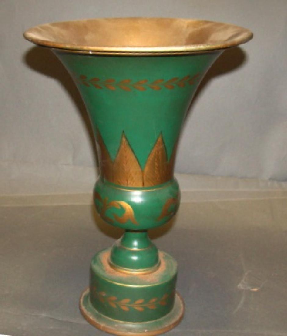 19th C Toleware Vase