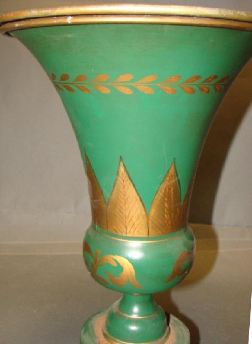19th C Toleware Vase - 2