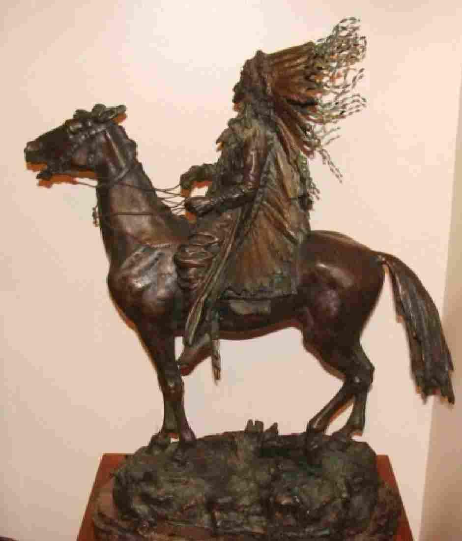 Native American Bronze Sculpture, Carl Kauba
