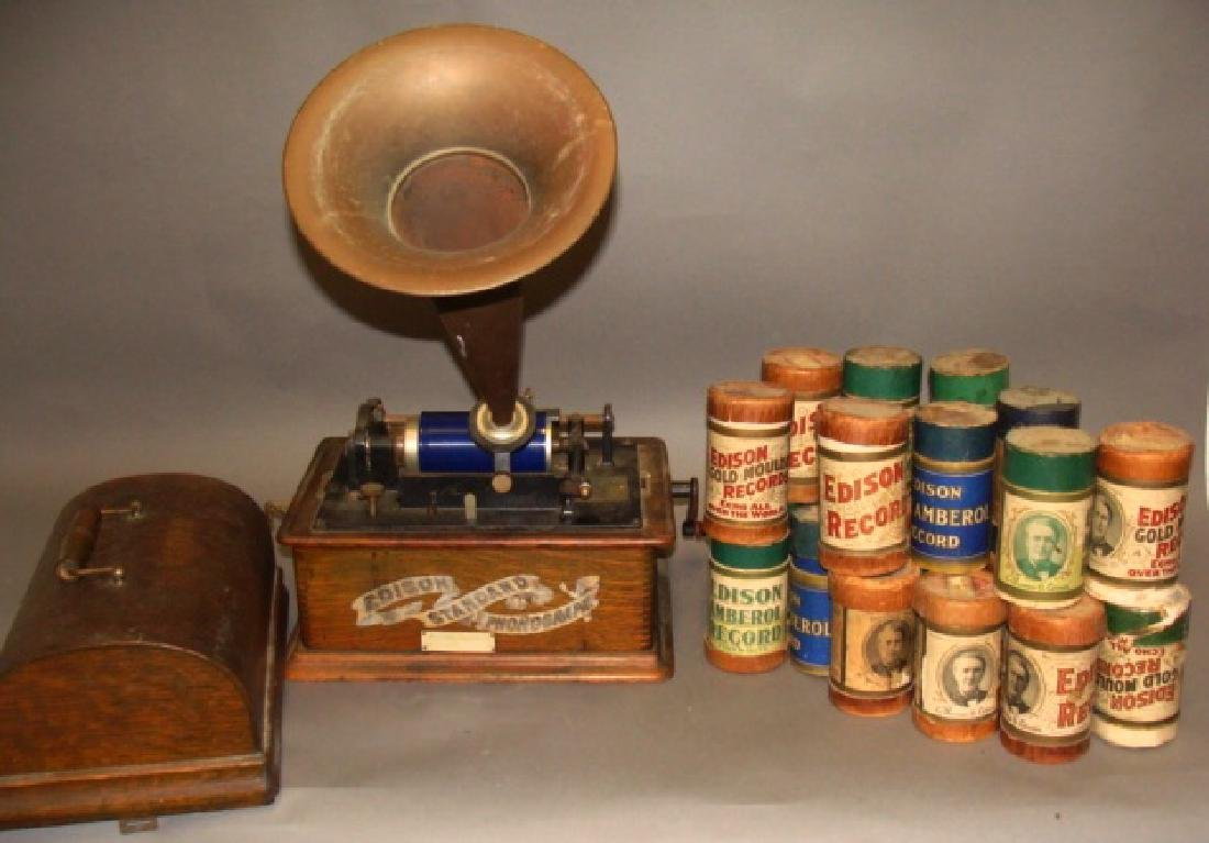 Edison Standard Phonograph with Horn