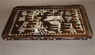 Chinese Inlaid Mother of Pearl Tray