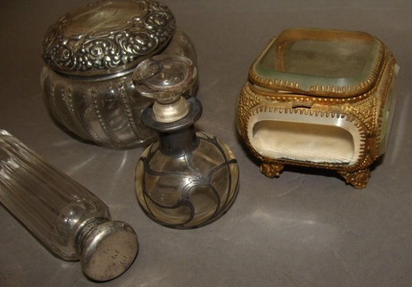 Grouping of Dresser Jars, Sterling Tops - 3