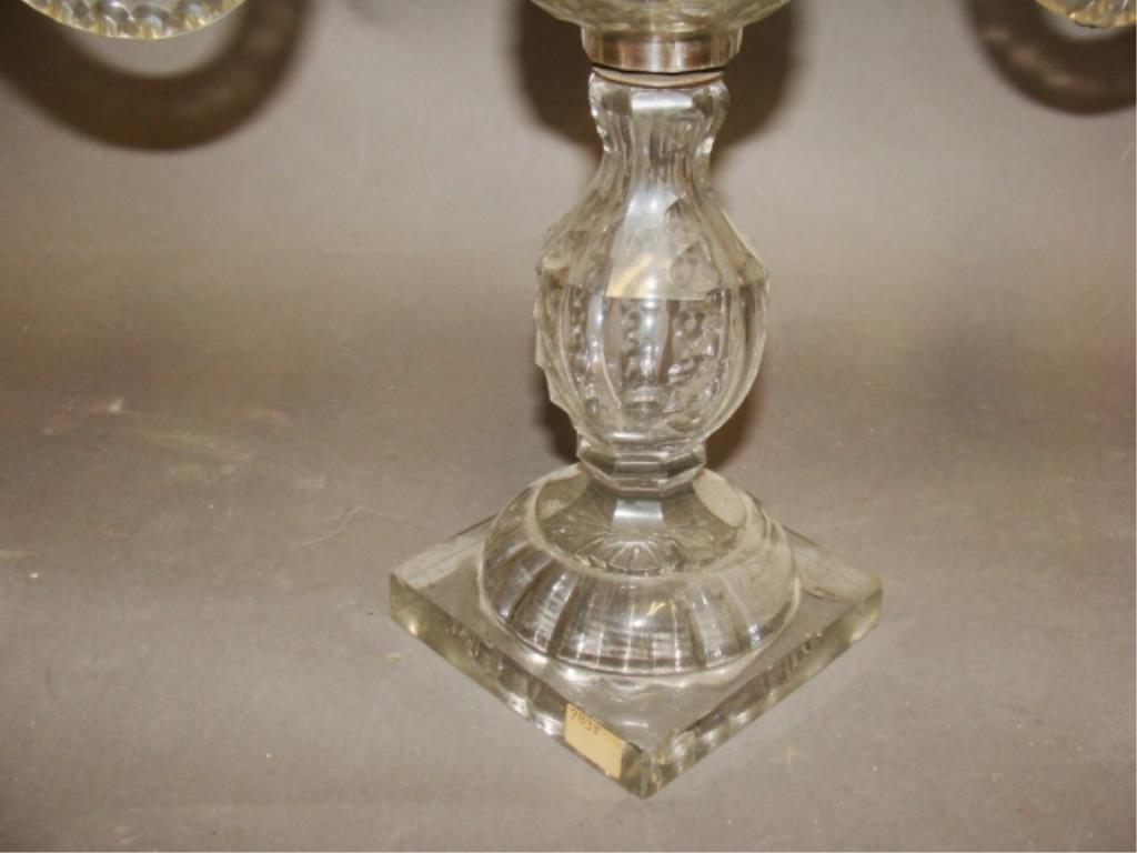 Two Arm Crystal Candelabra - 2