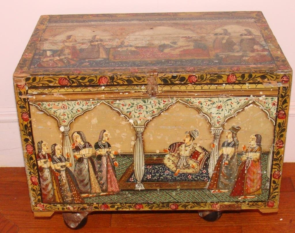 Antique Persian Apothecary Chest Cabinet