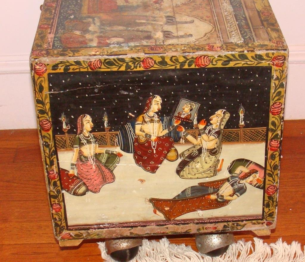 Antique Persian Apothecary Chest Cabinet - 4