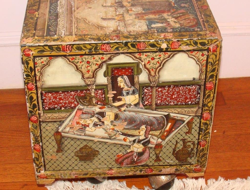 Antique Persian Apothecary Chest Cabinet - 6