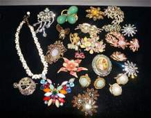 Vintage Jewelry Lot Haskell Florenza Coro