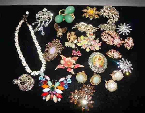 Vintage Jewelry Lot Haskell, Florenza, Coro