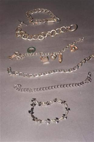 Sterling Jewelry Bracelet Grouping