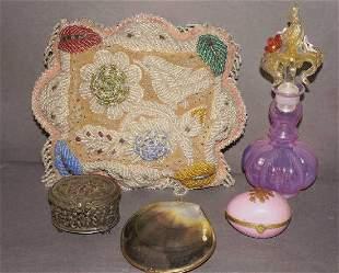 Victorian Beaded Indian PillowVanity Lot