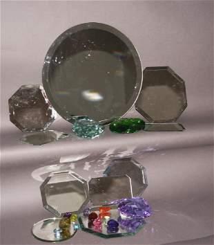 Jewelry Mirror and Stone Displays Lot