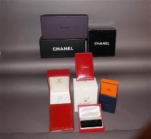 Vintage Designer Display Boxes Cartier Hermes