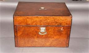 Victorian Rosewood Jewelry Box Coromandel