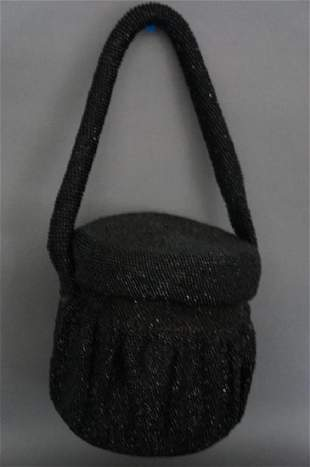 1950s Beaded Bucket Purse Handbag