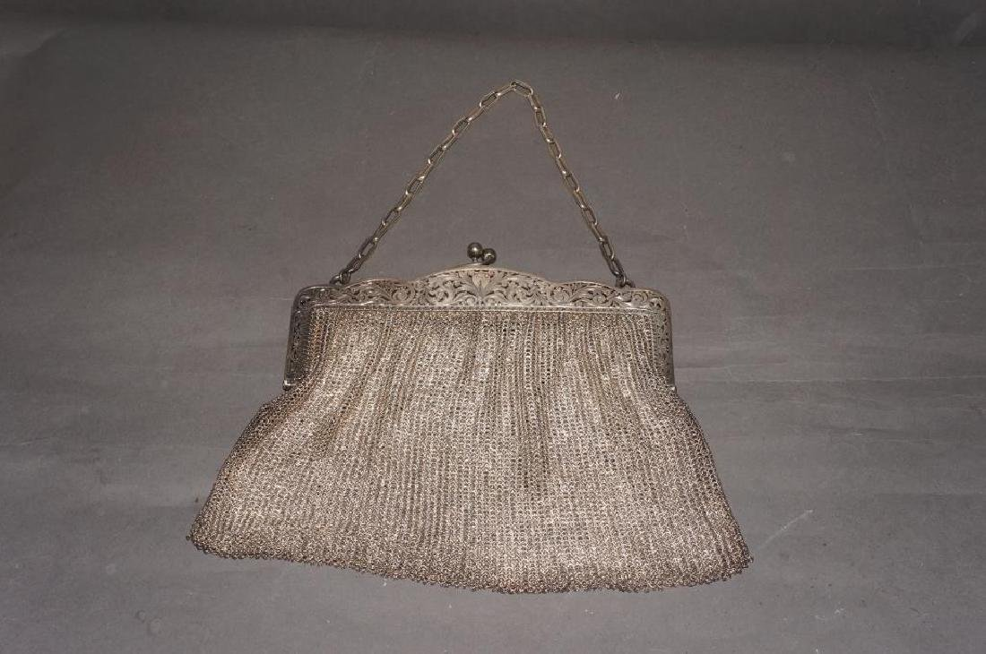 Sterling Silver Mesh Evening Bag