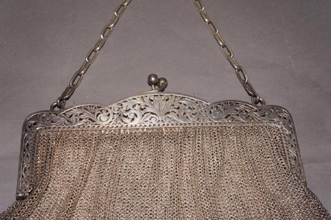 Sterling Silver Mesh Evening Bag - 2