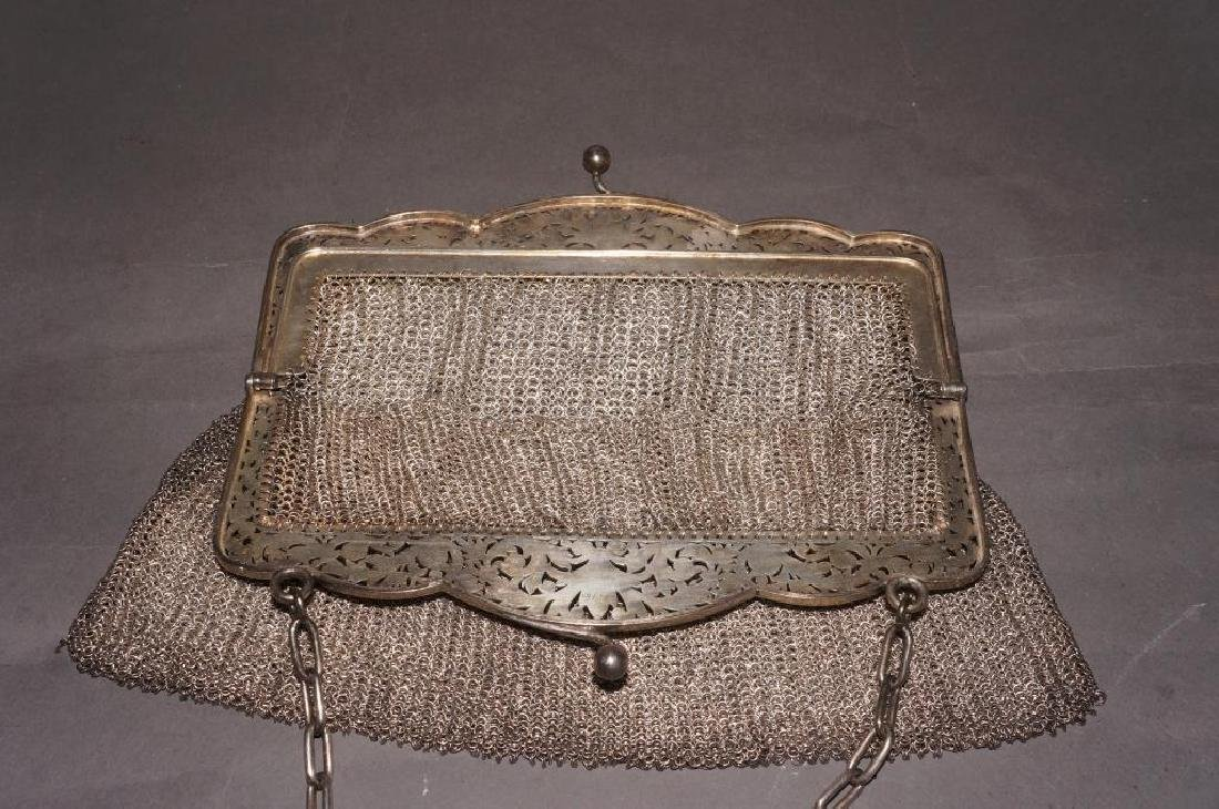 Sterling Silver Mesh Evening Bag - 3