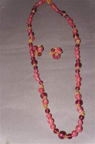 Miriam Haskell Necklace Set