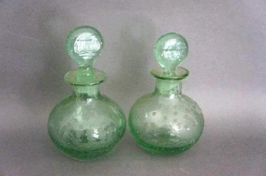 Early Blown and Etched Perfume Bottles