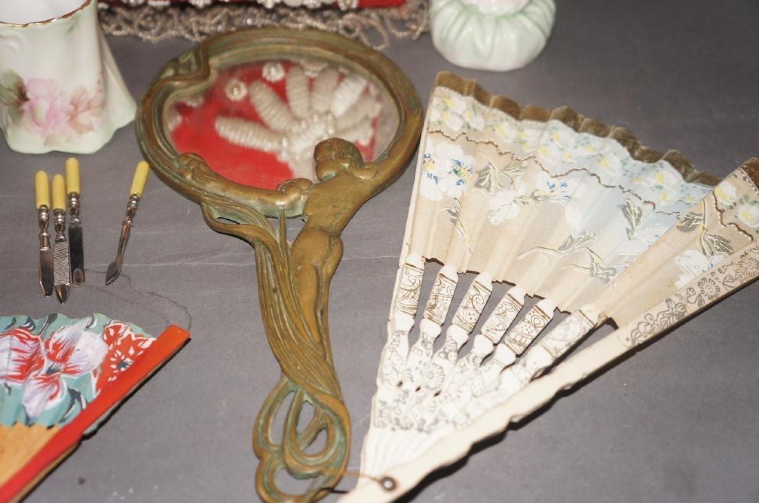 Victorian Beaded Indian Pillow, Vanity Lot - 3