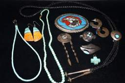 Vintage Turquoise Jewelry Grouping