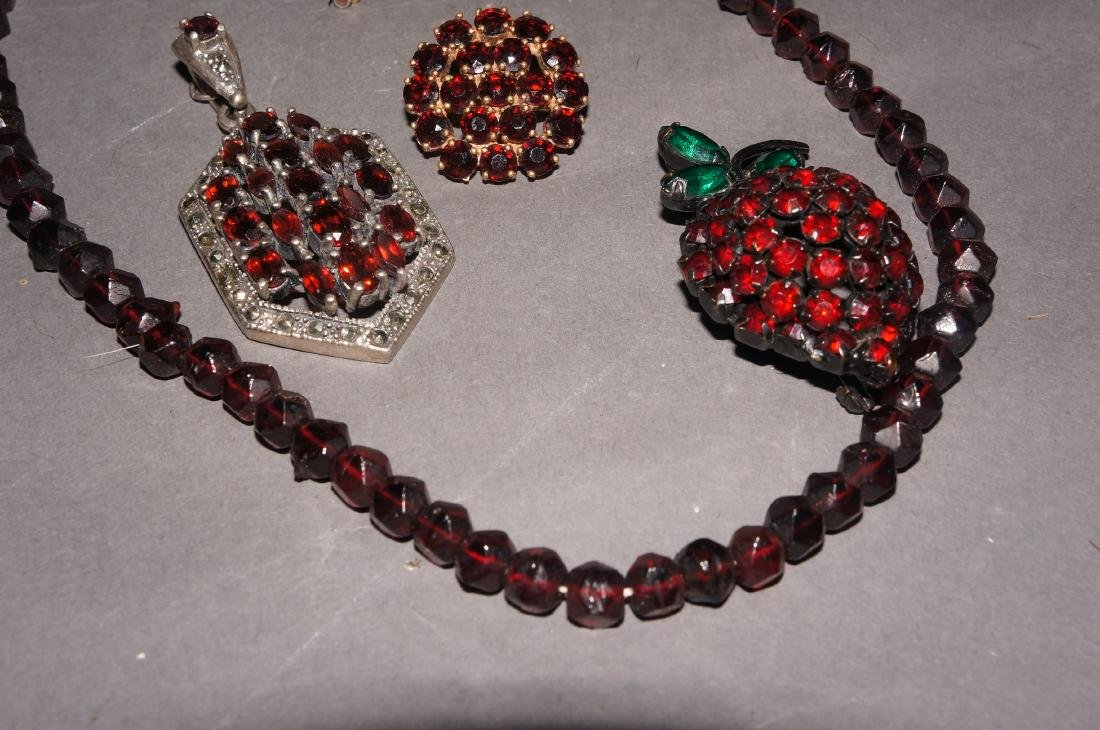 Vintage Garnet Jewelry Grouping - 2