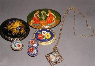 Vintage Micro Mosaic Jewelry Lot