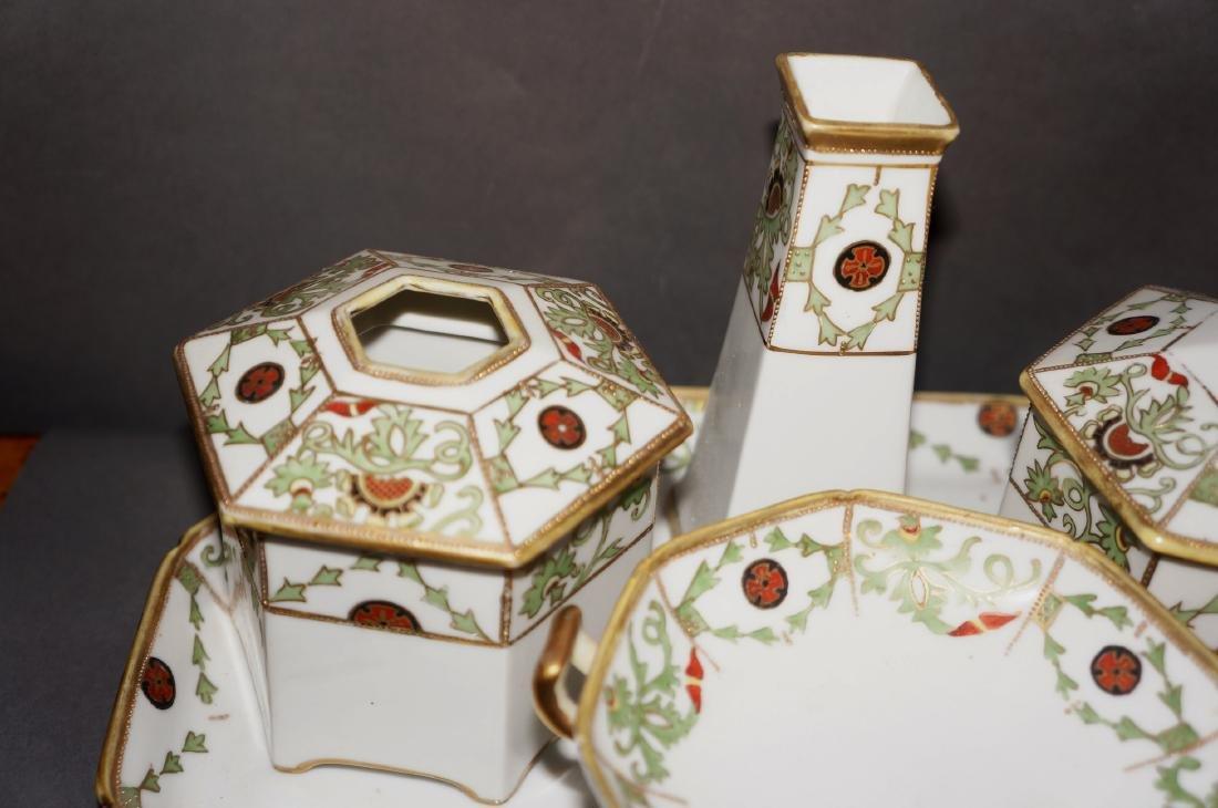 Vintage Porcelain Nippon Dresser Set - 2