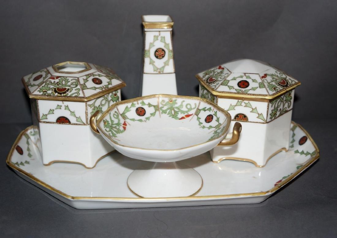 Vintage Porcelain Nippon Dresser Set - 3
